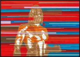 Bronzo di Riace, Zino, 70x50cm