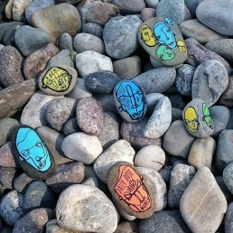 Salventius Stone Paitings at Lago di Garda, 2019