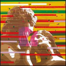 Venere e Adone, Zino, 100x100cm