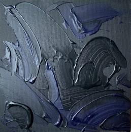 Black Sea, Letteria Russo. Opera su tela in acrilico nero e blu