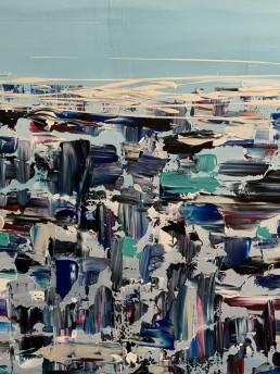 Oniric Landscape, Letteria Russo. Opera su tela in acrilico multicolore