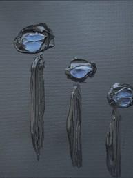 Touch of blue, Letteria Russo. Opera su tela in acrilico nero e blu